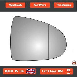 Right Driver Wide Angle Wing Mirror Glass for Mitsubishi Colt 2002-2012 273RAS