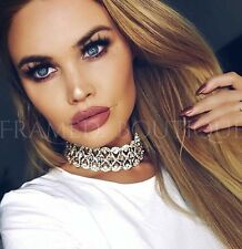 LUXURIOUS DIAMONTE Crystal GOLD CHOKER Necklace PROM Celebrity PARTY    .60