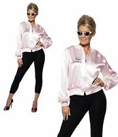 Pink Ladies Jacket Official Grease Fancy Dress Womens 1950s 50s Rock n Roll Lady