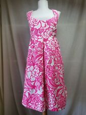 Vanessa Virginia Anthropologie Garden Party Dress 12 A-Line Pockets Pink Floral