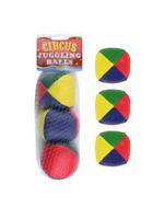 Coloured Juggling Balls Circus Clown Kids Learn To Juggle Game Toys 3 Pack NEW