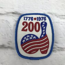 Vintage Bowling Pin bicentennial 1776*1976 patch 200 Game Red White Blue