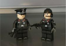 Custom Bricks - Soldaten WW2 LEGO / COBI kompatibel 2 Soldaten der Panzertruppe