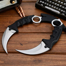 New CSGO Skin Karambit Silver Real Life Counter Strike Tiger Claw Tactical Knife