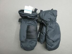 COLUMBIA SIZE S YOUTH BLACK WATERPROOF INSULATED WINTER MITTENS 3B