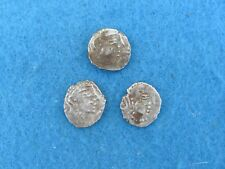 RARE Lot 3 SILVER-ANCIENT INDIA-KSHATRAPA Drachm coins