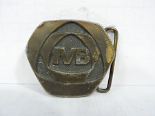 Vintage Advertising Brass Belt Buckle Oden Inc  IVB 2.5 inches X 2.25 inches