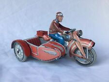 Tippco T587 Motorrad mit Beiwagen Blech Motor - Motorcycle with Sidecar Tin Toy