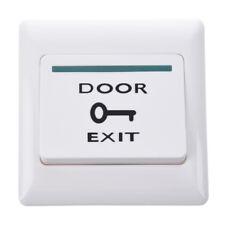 White Electronic Door Exit Push Strike Button Panel 2 Mounting Screws G7h1 U6h5