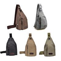 Men's Vintage Crossbody Satchel Canvas Leather School Shoulder Messenger Bag