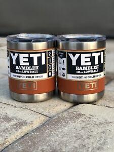 New!YETI (2 items) Rambler Lowball 10 oz.      *Clay*         RETIRED