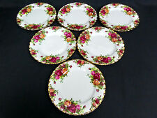 6 OLD COUNTRY ROSES SIDE / BREAD PLATES, 1st QUALITY, VGC, 1962-73, ROYAL ALBERT