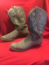 Tony Lama Gray Mens Cowboy Boots Size 12 A narrow 8501 USA 🇺🇸
