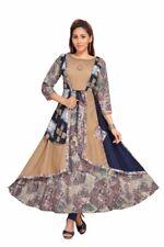 Indian Pakistani Latest Jacket Designer Women Ethnic Dress Long Anarkali Kurti