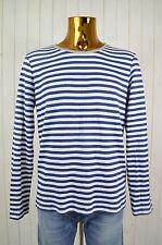 CONLEYS Herren Sweatshirt Blau Weiß Grau Gestreift Baumwollgem.Rundhals Gr.M