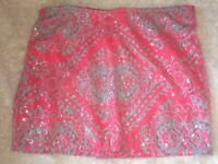 Women Red Deluxe Sequin Sparkly Christmas Santa Claus Clausplay Corset