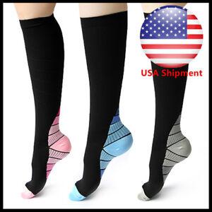 Compression Socks Sports Men Women Calf Shin Leg Running Fitness Cross Fit S~XL