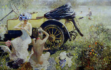 Bathing Party with 1912 Renault by Dexter Brown Limited Edition Print
