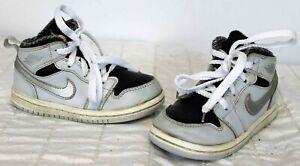 Air Jordan 1 Retro Mid Toddler Sneakers sz 7C Cool Grey Basketball 640735-032