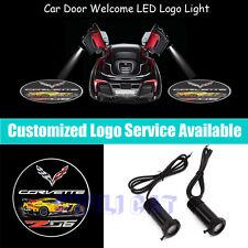 2PCS Car Door Welcome CREE LED Projector Logo Light for Chevrolet Corvette Z06
