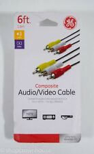 GE Composite Audio Video Cable 6 ft. 1.8 m  HDTV DVD Player 33608 For All Brands