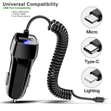Car Charger USB C For Samsung S7 S8 S9 S10 S20 Note10 Type-C Micro HUAWEI Cable