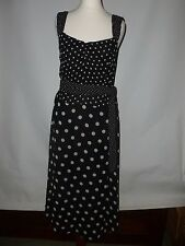 NEXT BLACK AND WHITE SPOTTED DRESS  UK 8