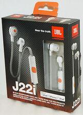 NEW JBL J22i Ear Bud Stereo Headphones WHITE iPhone 6/5s/4s/iPad/iPod Mic/Remote