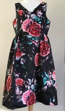 BNWT Beautiful Ladies Marks And Spencer Black Floral Dress Size 16 Wedding Prom