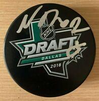 Noah Dobson Autographed Signed 2018 NHL Draft Puck New York Islanders