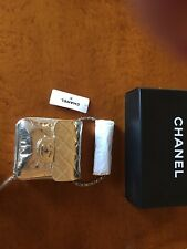Chanel Cracked Gold Leather Vallet On The Chain Flap Bag