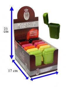 Posacenere Bravo Rex Tascabile in Plastica Colorato con Tappo Antiodore