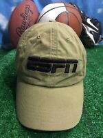 ESPN Beige adult khaki adjustable strap back hat cap h27