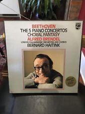 Alfred Brendel Beethoven The 5 Piano Concertos Choral Fantasy 5 LP Boxset!