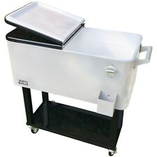 North Gear Outdoor 80 Quarts Portable Rolling Cooler Cart Home Party Ice Chest