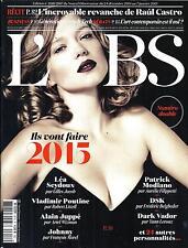 L'OBS N°2616&2617 24 DECEMBRE 2014 ILS VONT FAIRE 2015: SEYDOUX, POUTINE,MODIANO