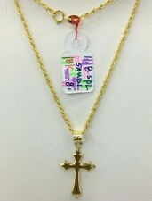 Gold Authentic  18k gold cross necklace,,