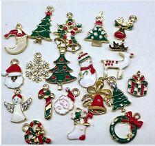 19pcs Metal Mixed Christmas Charms DIY Pendants Party Home Decor Ornament