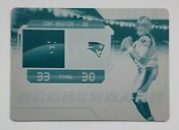 2018 Panini Plates & Patches Cam Newton 1 of 1 Printing Plate