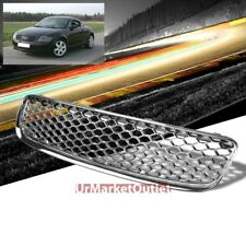 Chrome Honeycomb Mesh RS Style Front Grille For 00-06 TT/Quattro MK1 Type-8N