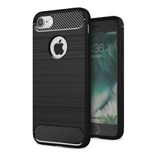 Apple iPhone 8 Case Cover Carbon Fiber LOOK Brushed Protection Case TPU Case