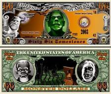 Halloween Monster 66 Tombstones Dollar Bill Collectible Funny Money Novelty Note