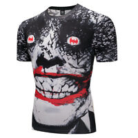 Sports Clown 3D Printed Men's Compression T-shirts Breathable Clothing Tops Tees