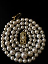 VINTAGE ESTATE REAL AND AUTHENTIC MIKIMOTO GRADUATED PEARL NECKLACE