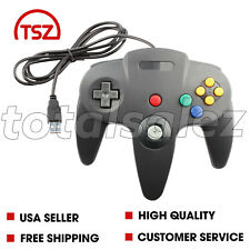 For Nintendo 64 N64 USB Black Controller Joy Stick Pad Remote Video Game System