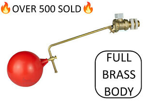 """Part 2 High Pressure Float Valve Ball Cock With Float 1/2"""" BSP Brass BS1212/2"""