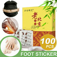 100X Fusspflaster Entgiftung Wormwood Foot Pad Vitalpflaster Entschlackung Detox