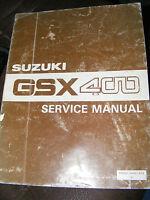 SUZUKI GSX400 SERVICE MANUAL  (GENUINE SUZUKI MANUAL)