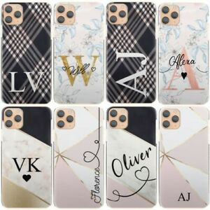 Personalised Initial Phone Case, with Name, Flower Marble Hard Cover For Google