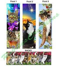 3-CAT BOOKMARK Kitten Black TABBY ART Photo Book Mark Printed Set CARD Figurine